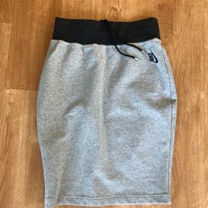 Nike LAB gray cotton pencil skirt Small Sample!
